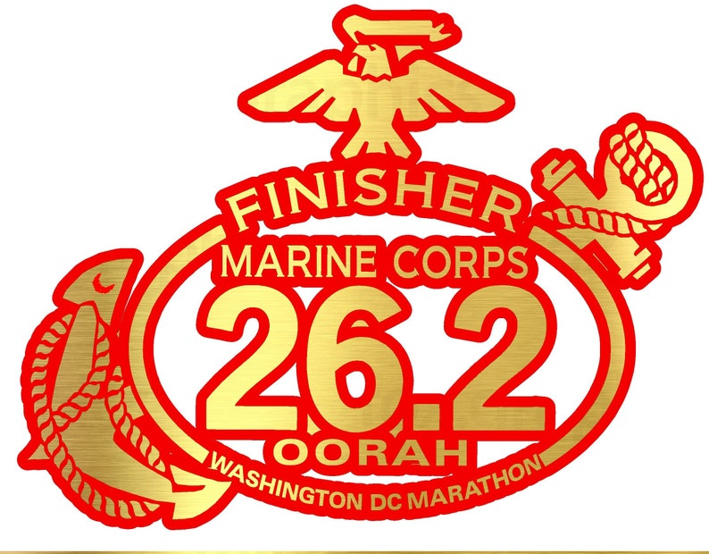"""2017 42nd Marine Corps Marathon D.C.Finisher /"""" PINK /"""" color Decal Car"""