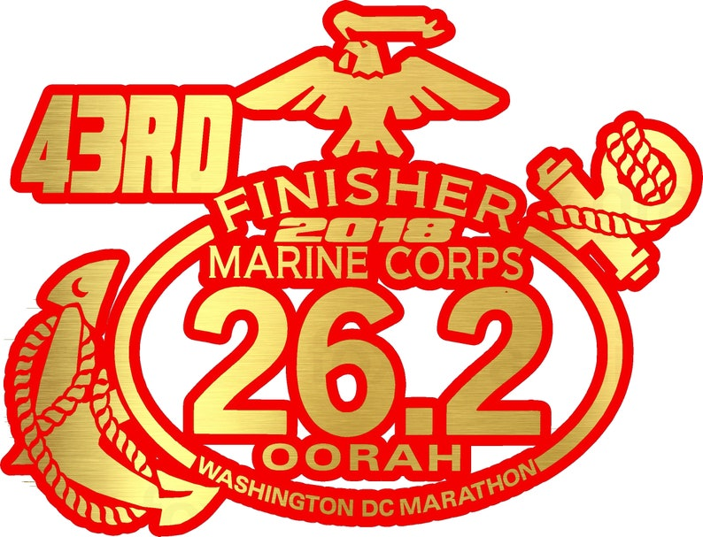 2018 any year Marine Corps Marathon D.C.Finisher Decal iPad,Luggage,Suit Car