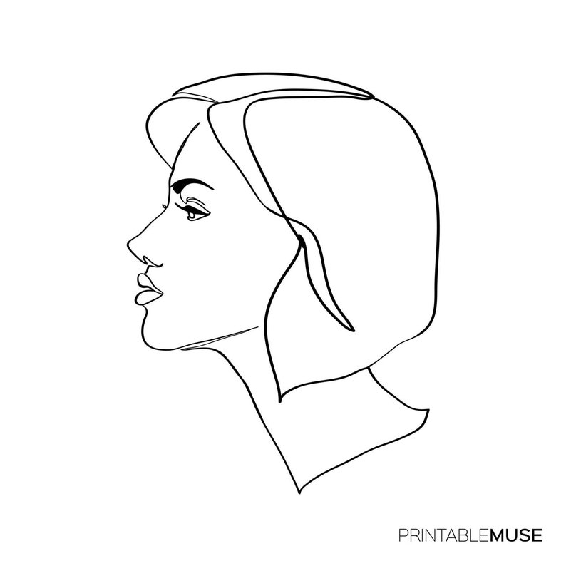 Custom Portrait Drawing From Photo Art Commission Tumblr Line Etsy