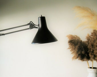 Vintage Large Orange Architect Lamp Made In Sweden With Etsy