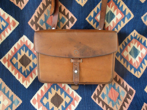 VINTAGE Swiss Army Leather Bag 1960's Swiss Army L