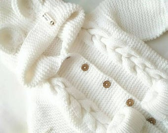 327b56b4fdd Baby knit romper Knitted romper Knit overall Baby romper Spring romper  Newborn romper Knit bodysuit Knitted baby clothes Knitted jumpsuit
