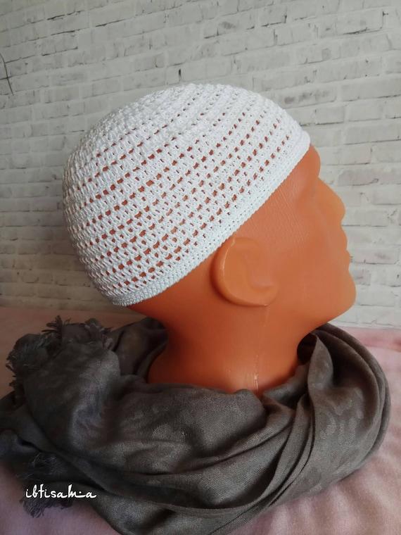 0a9517f493aaa Kufi cap White beanie cap Summer hats Kufi Hats men Crochet