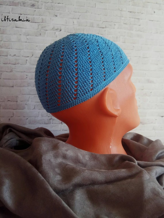 Crochet kufi Beanie Muslim men hat Personalized cap Men hat  f18e37a657b