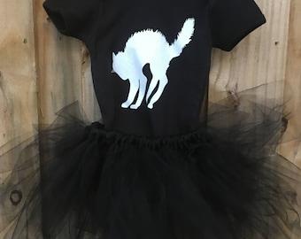 Black Cat TUTU costume/ Halloween costume