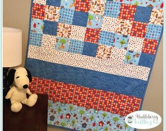 Ruff Life Quilt Kit, Puppy Love Fabric, Riley Blake, Dog, Puppy, Boy, Quilting Fabric, Cotton Fabric