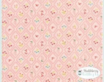 Home Sweet Home, Pink, Garden Cameo Wallpaper Pink, Moda Fabrics, Stacy Iest Hsu
