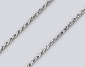 Rope Chain Made in Italy TO Necklace, Anklet, Bracelet - Sterling Silver