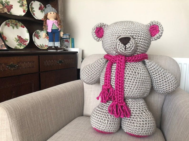 HUGE Crocheted Krissie Bear Valentines  Anniversary Gift