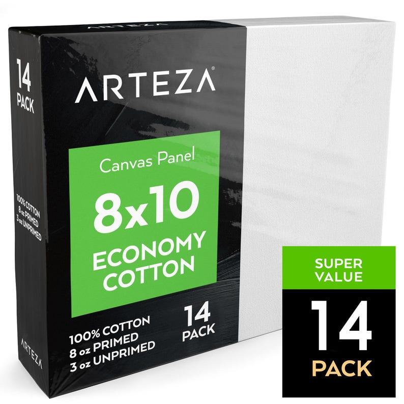 Arteza 8x10 Canvas Panel Economy-Cotton Pack of 14 image 0