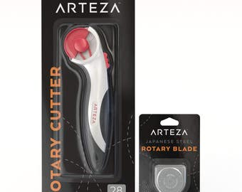 Arteza 28mm Quilting Rotary Cutter & 5 Replacement Blades (SKS-7, Set of 6)