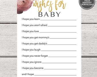 baby shower games printable baby shower games instant download baby shower wishes for baby printable baby shower wishes for baby template