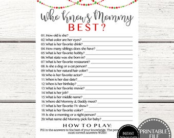 Christmas Baby Shower Games Printable Bingo Game Instant Etsy
