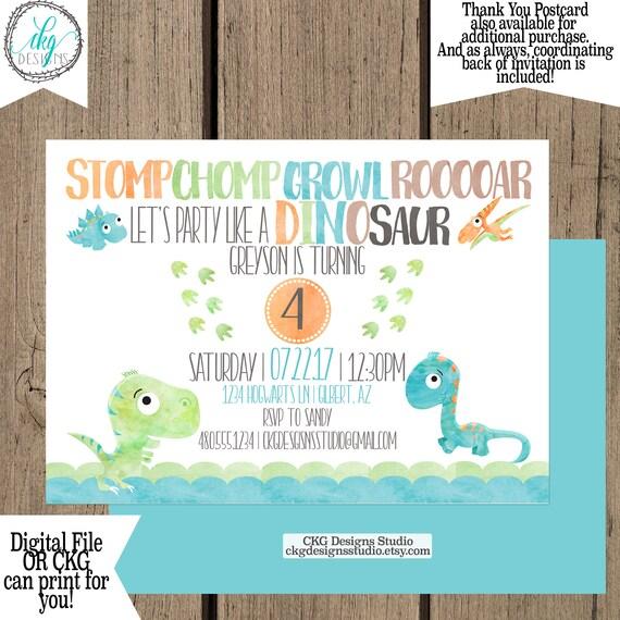 dinosaur birthday invitations first birthday boy dinosaur 1st etsy