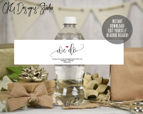 Wedding Water Bottle Label Template from i.etsystatic.com