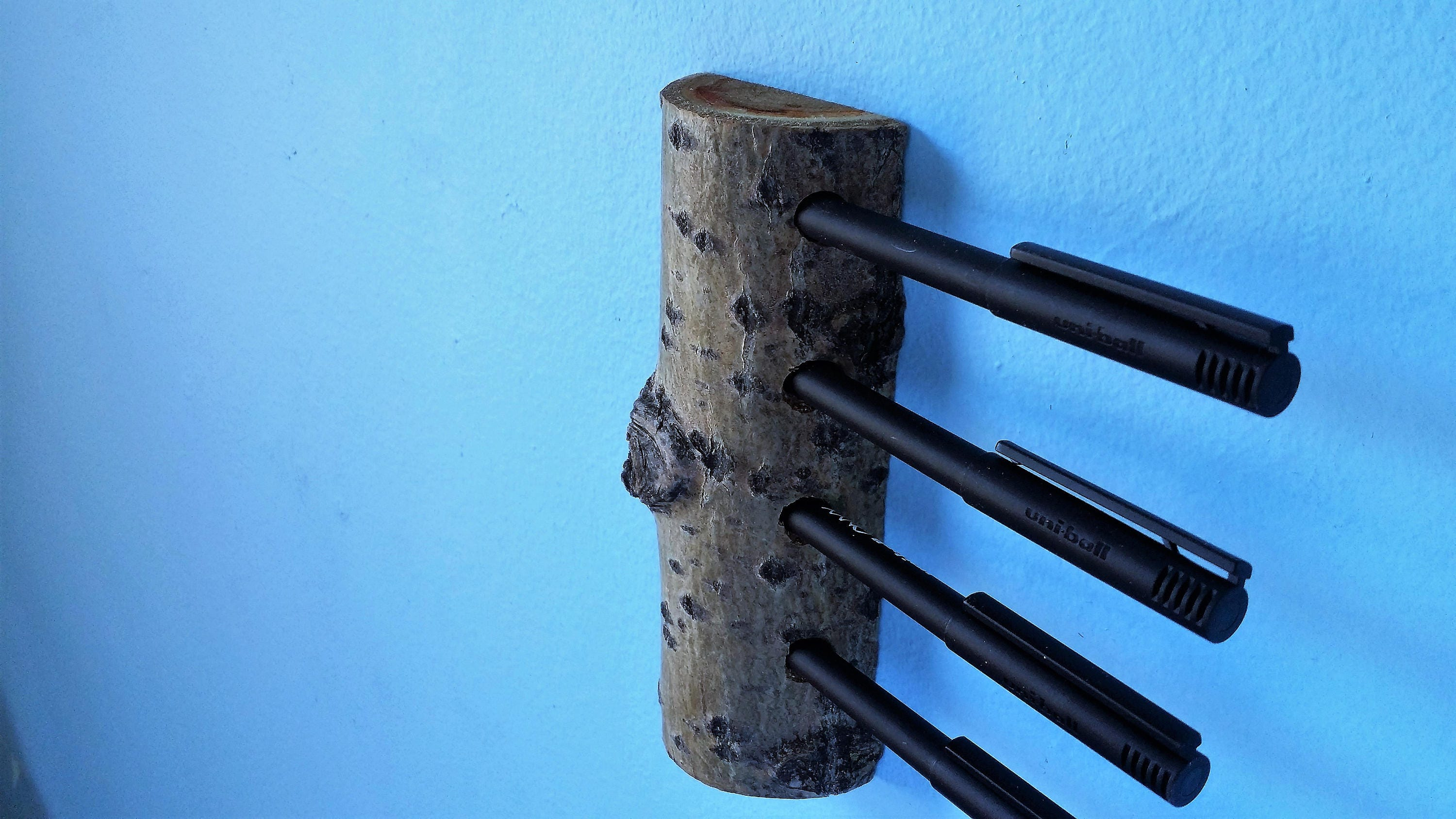 Wall Mounted Pencil And Pen Holder Branch Wood Pen Pencil