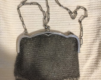 """Clac Click"" Bag from evening in silver."