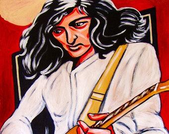Jimmy Page Led Zeppelin Yardbirds Guitar Print