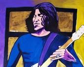 Jack White Stripes Print poster Raconteurs Gretsch Thunderbird Guitar