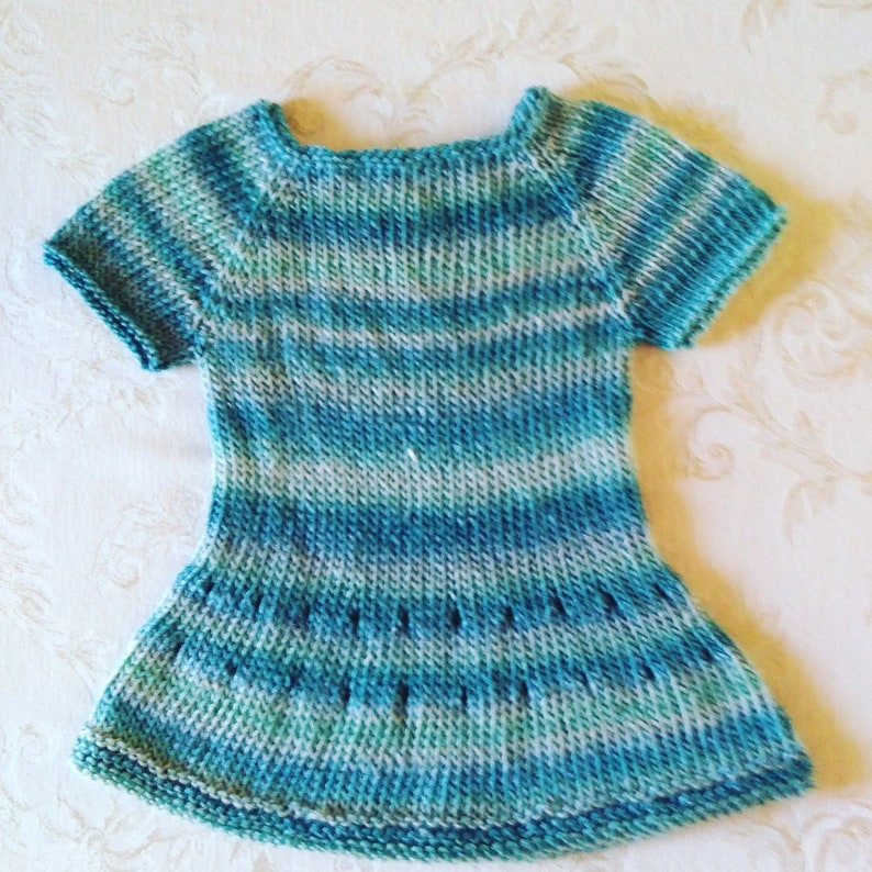69ff17f028c14 Knit baby dress 3 months, baby clothes, baby girl dress, hand knit, FREE  SHIPPING
