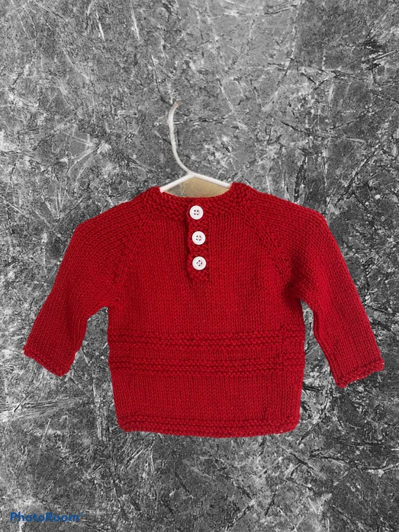 Knit baby  sweater 0-3 months Baby Shower Gift Christmas present baby boy /& girl clothes