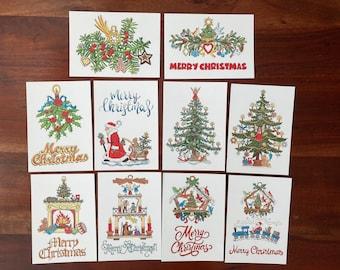 Christmas Cards Postcard Set of 10 Holiday Season Cards Festive German Traditional