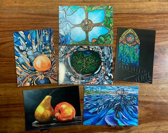 Art Postcards | Original paintings | Unique Imagery | UK Artist | Set of 6 | A6