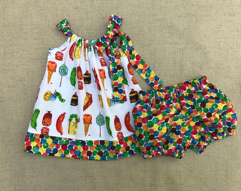 1a6a2b18e00d The Very Hungry Caterpillar Dress and bloomers Caterpillar | Etsy