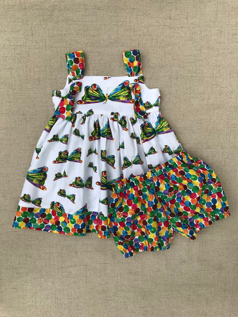 5874df0db046 The Very Hungry Caterpillar Knot Dress and bloomers Butterfly | Etsy