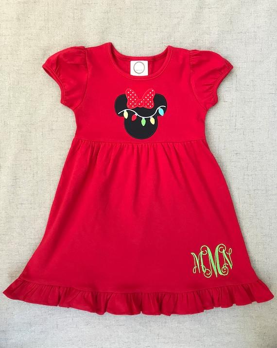 Minnie Mouse Christmas Dress.Minnie Mouse Christmas Dress