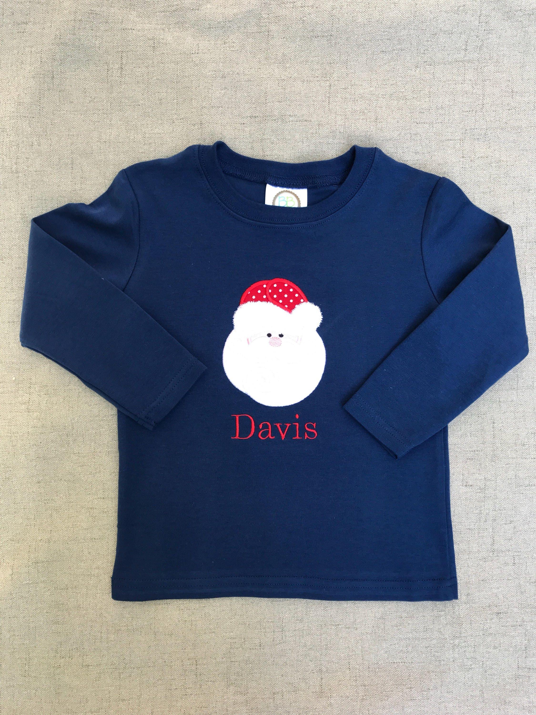 Santa Appliqué Shirt jungen Weihnachten Scheiße | Etsy