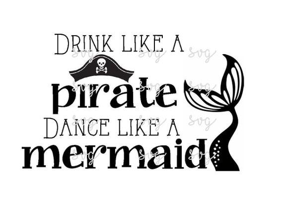 Pirate Mermaid Svg File Etsy