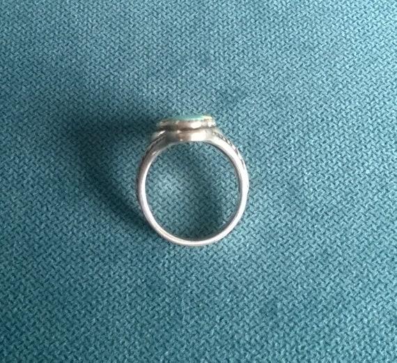 Ou Paz sculpté argent sterling ovale bleu lapis Cabochon Ring Taille 5 QVC