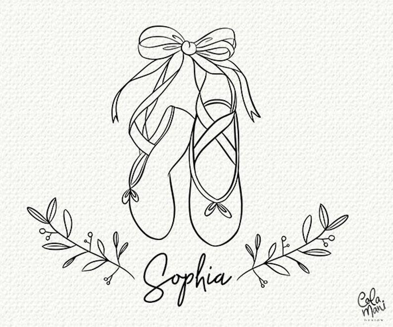 Ballerina Shoes Svg Customizable Name Tag Cut Files Girl