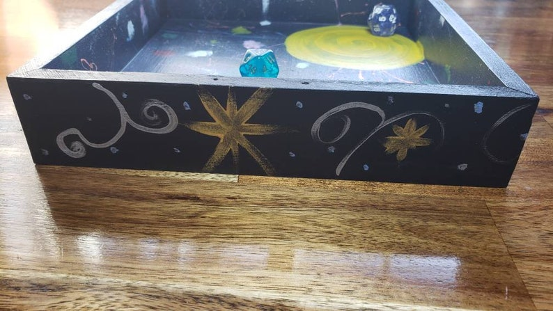 Universe Dice Tray for DnD  Night Sky Rolling Box for Tabletop Games