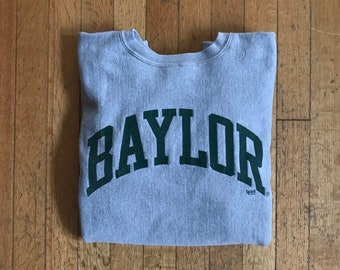 1980 s X-Small Baylor University Reverse Weave Crewneck Sweatshirt by  Champion 4902f7fffbc7