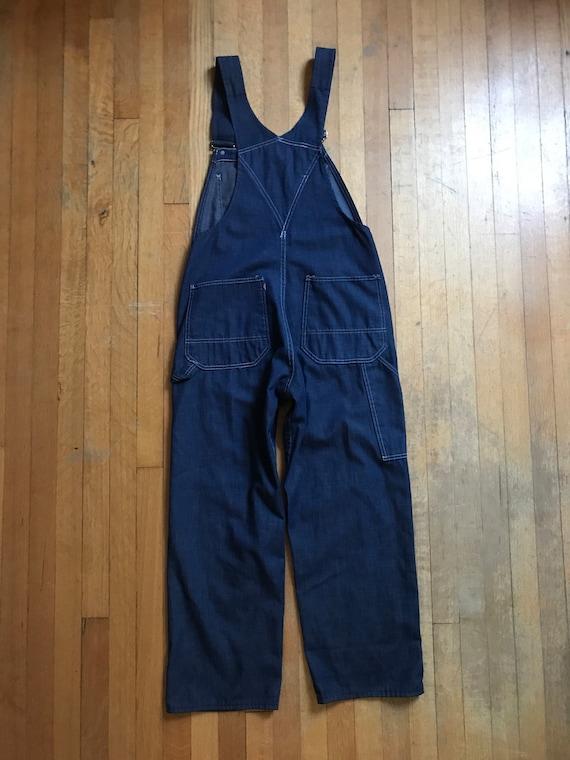 1970 ' s 32 x 28 salopette en Jean Tradeswear Tradeswear Jean par Sears 9544f6