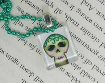 Spring Sugar Skull Pendant