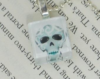 Winter Sugar Skull Pendant