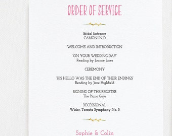 order of service cards rustic wedding kraft card with lace etsy