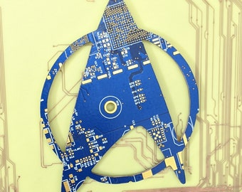 Circuit Board Star Trek Insignia | 100% Recycled PCB