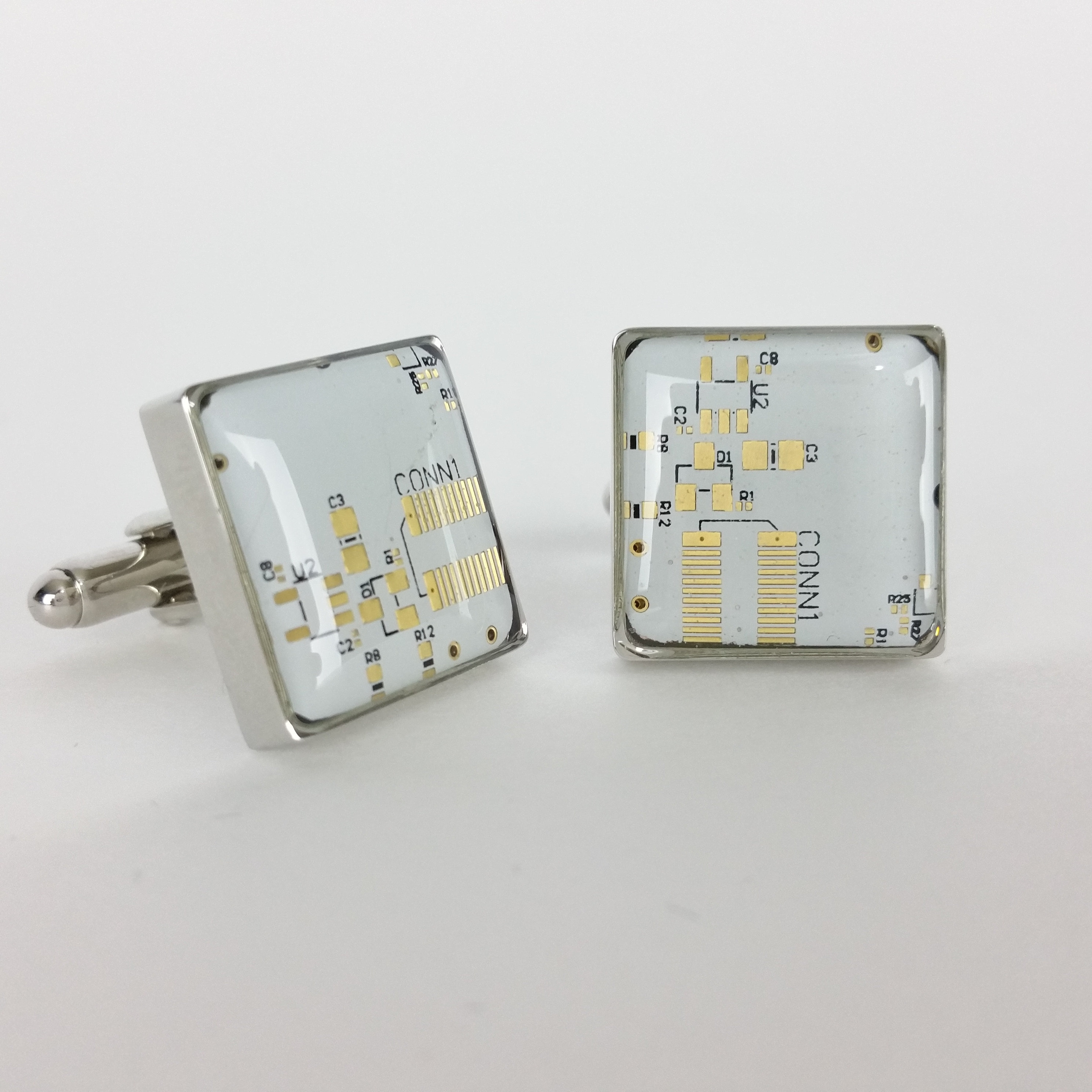 Circuit Board Cufflinks Made With Recycled Technology Etsy