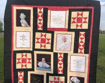 Marilyn Monroe Quilt Handmade