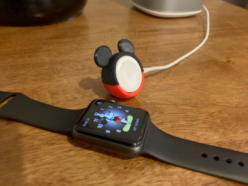 a26422139 Apple Watch Charger Cover Mickey Mouse Inspired 3D Printed