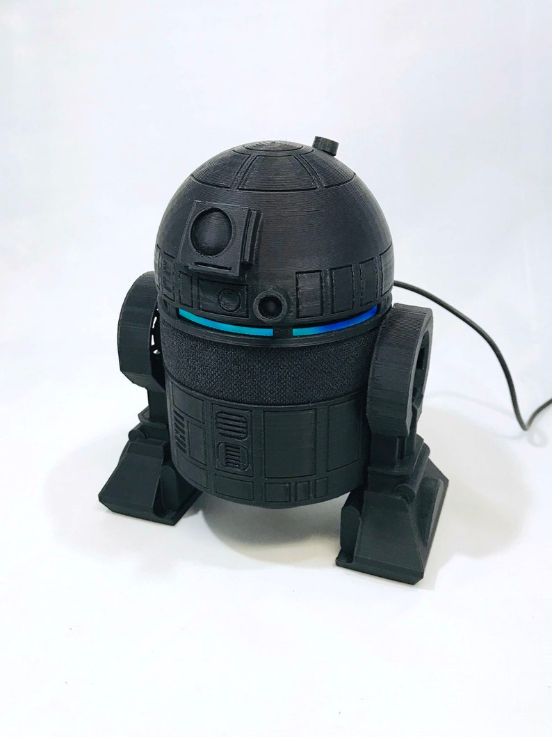 Amazon Echo Dot  R2D2 inspired accessory  All Black or White 3rd Gen Black