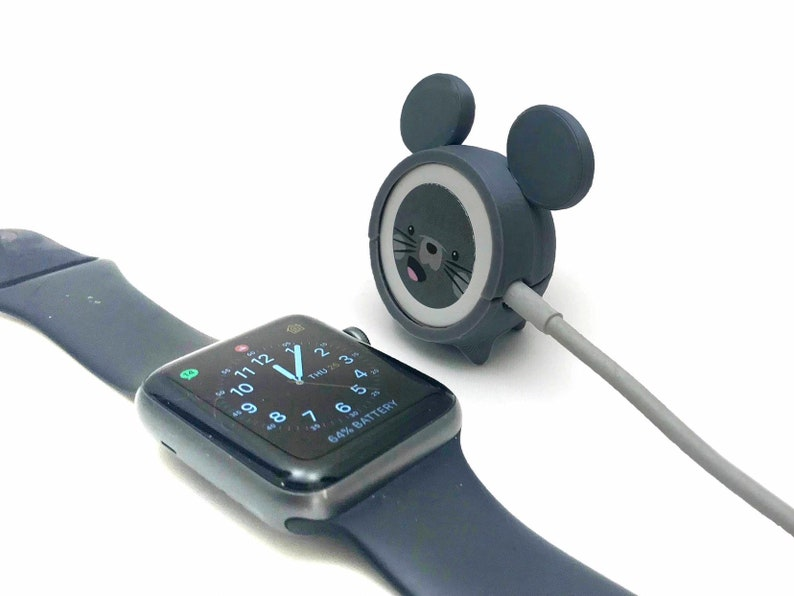 new concept cc5fd 4de97 Apple Watch Charger Cover - Mouse 3D Printed Accessory