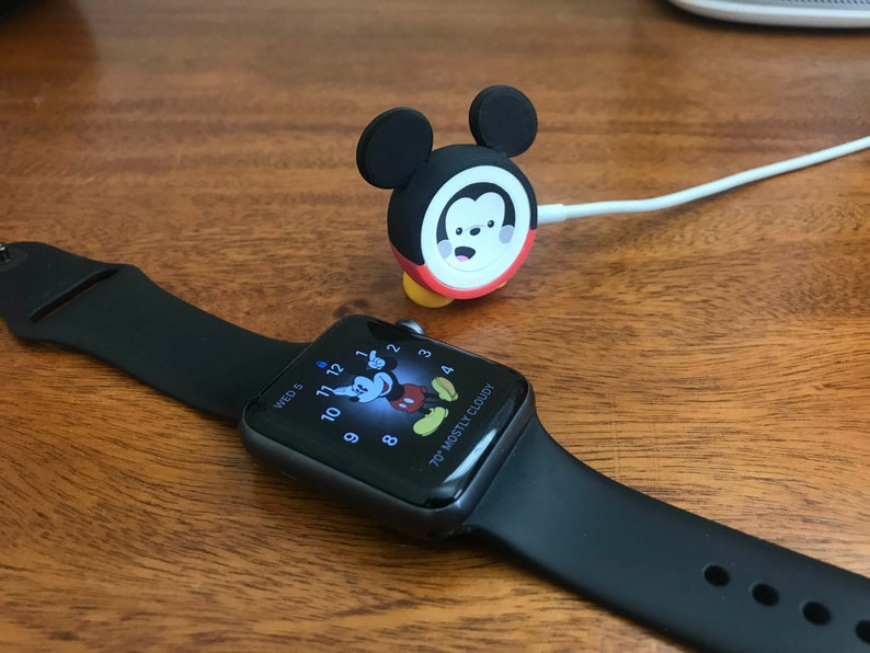 purchase cheap 9372e bd8a1 Updated! Apple Watch Charger Cover - Mickey Mouse Inspired 3D Printed  Accessory