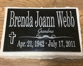 Headstone memorial stone grave marker stone granite personalied custom