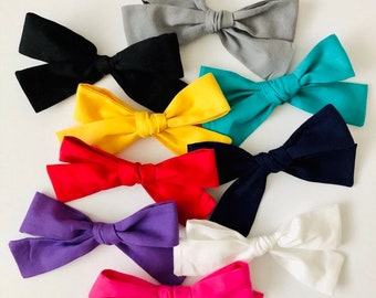 SOLID COLORS- Large Bows