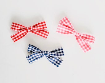 SUMMER GINGHAM Small Bows